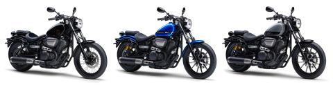 「BOLT ABS」「BOLT Rスペック ABS」 カラーリングを変更 941㎤ 空冷Vツインエンジン搭載のクルーザーモデル
