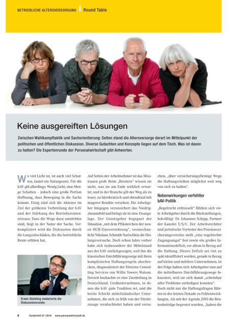 Betriebliche Altersvorsorge | Round Table