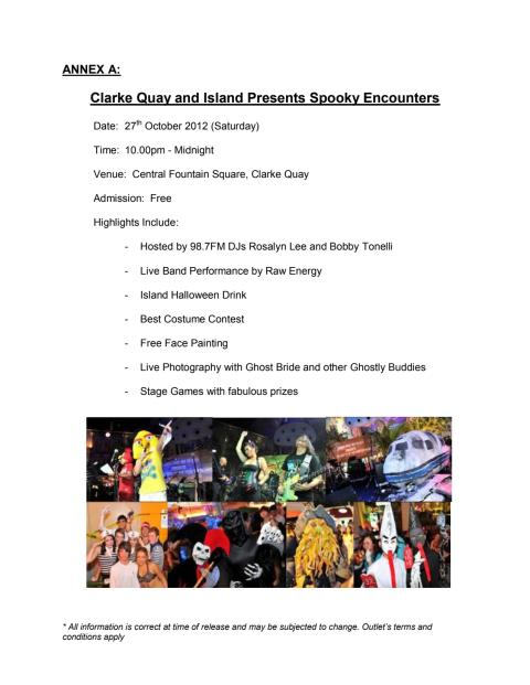 Clarke Quay and Island Presents: Spooky Encounters