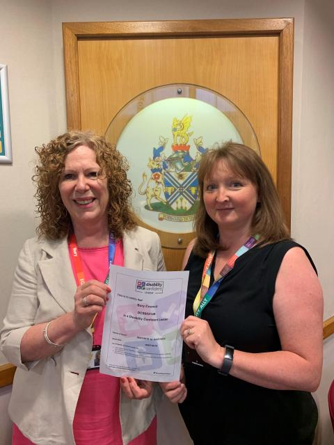 ​Bury becomes first council in GM to win Disability Confident Leader status