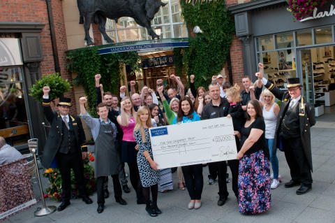 Heart transplant family thank Sanderson Arcade for fundraising success