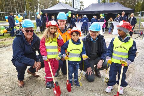 Vallby Förskola var med och invigde bygget av Matboden