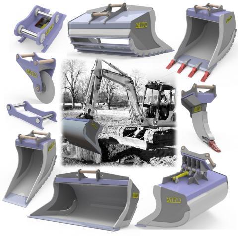 Entrack lanserar redskapsserie optimerad för minigrävare och grävlastare upp till 13 ton