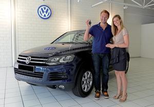 Swimming star Ian Thorpe drives Volkswagen Touareg