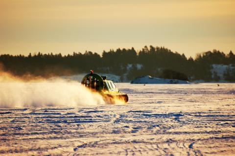 Sjöräddningssällskapet är Sveriges största svävarresurs