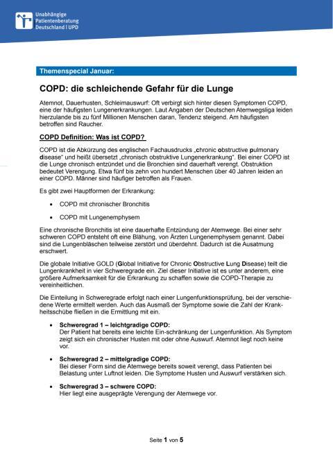 Fact Sheet COPD