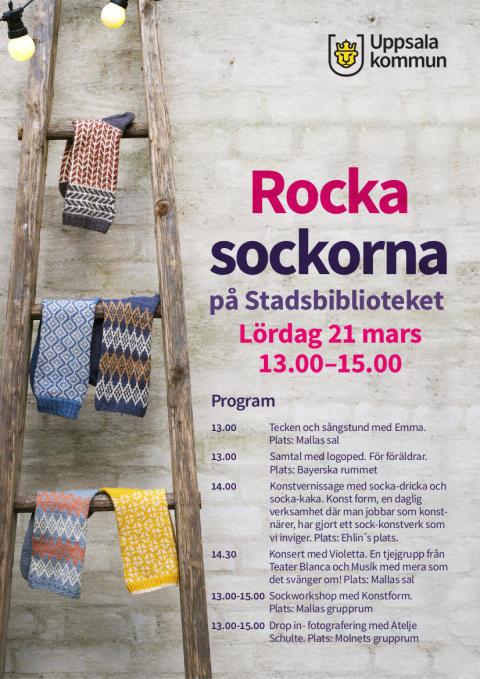 Rocka Sockorna med avdelning Uppsala - 21:a mars 2020 - **INSTÄLLT**