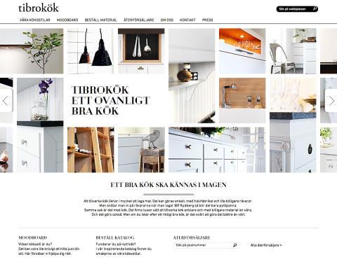 Tibrokök får hjälp med strategi, koncept och produktion inför lansering av ny webbplats