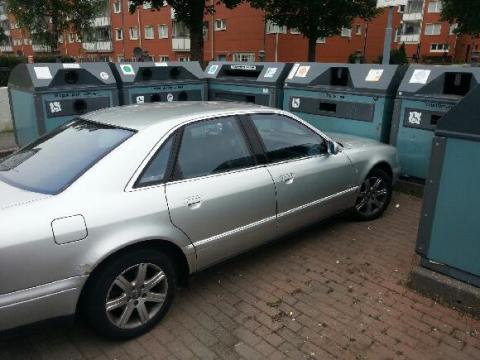 Dumpad bil riskerade återvinningen på Berggårdsgärdet