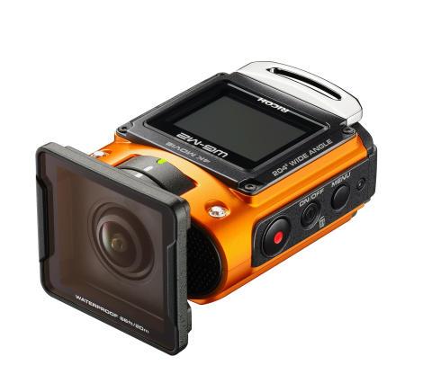 Ricoh WG-M2 orange med UV-beskyttelse