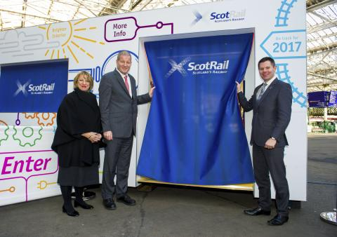 Faster, Longer, Greener 'train' unveiled at Edinburgh Waverley