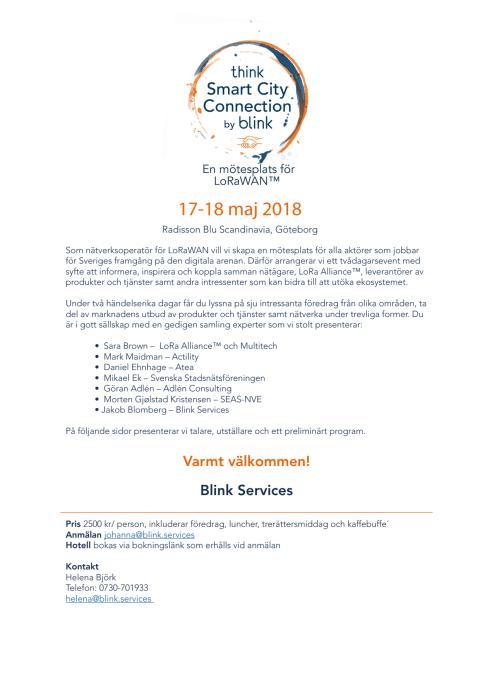 Smart City Connection 17-18 maj