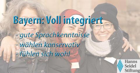Bayern ist Modellland gelebter Integration in Deutschland - Studie der Hanns-Seidel-Stiftung zur Partizipation und Integration von Migranten