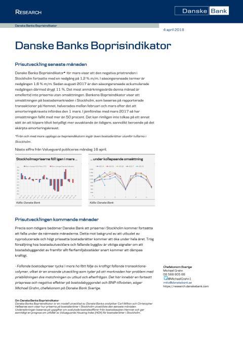 Danske Banks Boprisindikator mars 2018