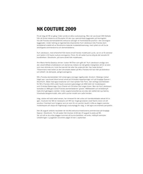 Fakta - NK Couture
