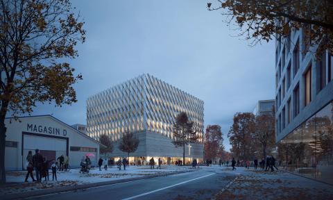 Elding Oscarsson ritar ny kyrka i Frihamnen