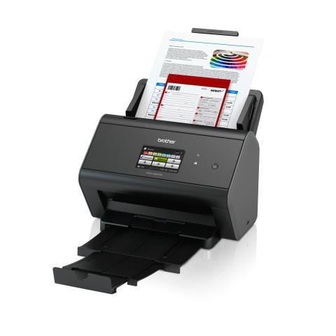 Brother ADS-2800W skanneri tarjoaa sekä kiinteän että langattoman verkkoyhteyden lisäten tehokkuutta ja joustavuutta. Skanneria on helppo käyttää suurelta 9,3 cm kosketusnäytöltä.