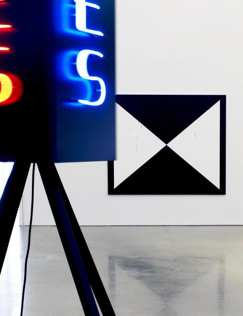 Gardar Eide Einarsson, Untitled (Jesus Saves) [Utan titel (Jesus frälser)], 2009; No Collaboration [Inget samarbete], 2008