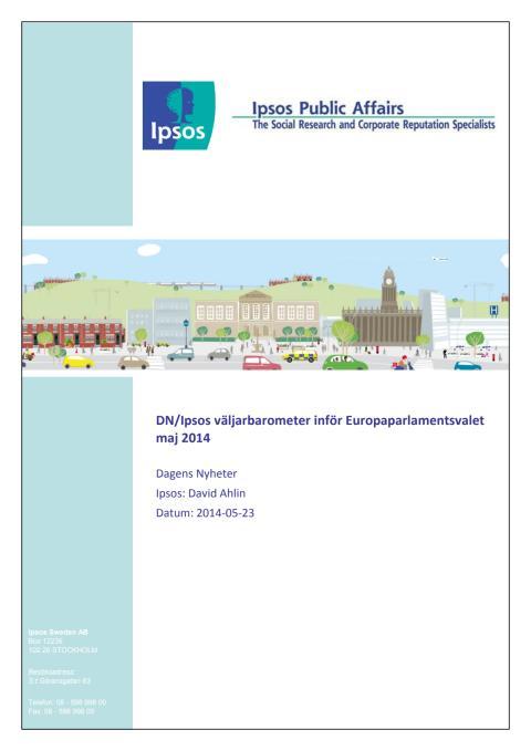 DN/Ipsos väljarbarometer inför EU-valet, maj 2014