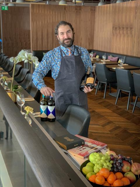 Mario E Moroni, partner och chefssommelier Pontus in the Air