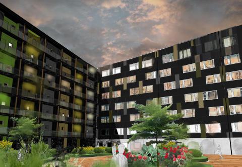 Pressinbjudan: 8 augusti lyfts den första färdigbyggda trämodulen på plats på Campus i Växjö