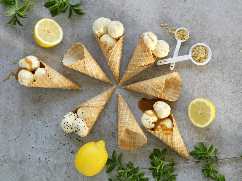 Citronglass med ingefära