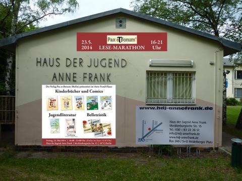 Pax et Bonum Verlag - Kleiner Lese-Marathon mit guten Büchern 23.05.201416:00-21:Uhr Einlass in das Foyer 15:30