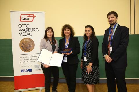 Otto-Warburg-Medaille 2019 für Prof. Dr. Marina Rodnina