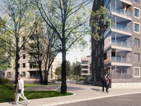 """Ramirent levererar tjänster och maskiner till bostadsprojektet """"Kv. Kungsljuset"""" i Västerås"""