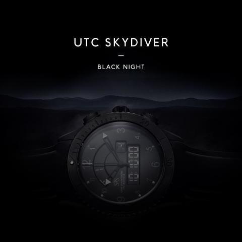 UTC Skydiver, Black Night Image