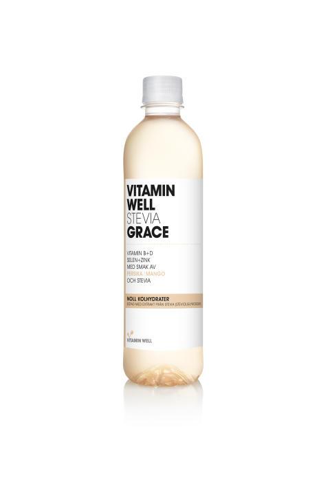 Vitamin Well utökar sin uppskattade steviaserie med Grace