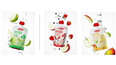 Semper lanserar Dryckis, en ny ekologisk fruktdryck för barn.