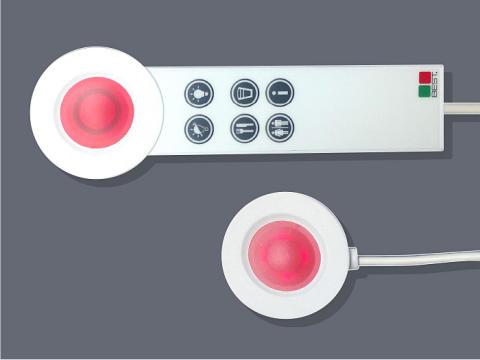 Nytt handset med integrerade knappar för Service Calls.