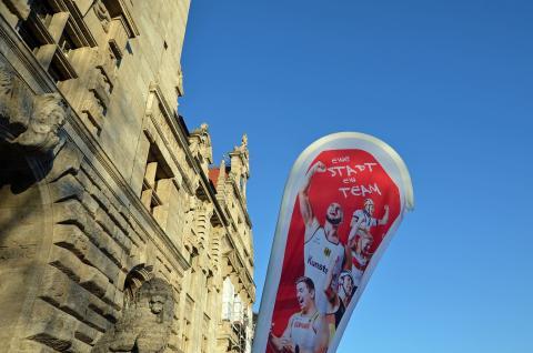"""Mit dem Motto """"Eine Stadt - ein Team"""" wird der Leipziger Spitzensport gestärkt - Foto: Isabell Gradinger"""