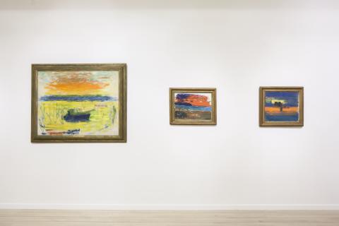 Carl Kylberg - med färgen bortom ytan. Interiörbild, Malmö Konstmuseum.