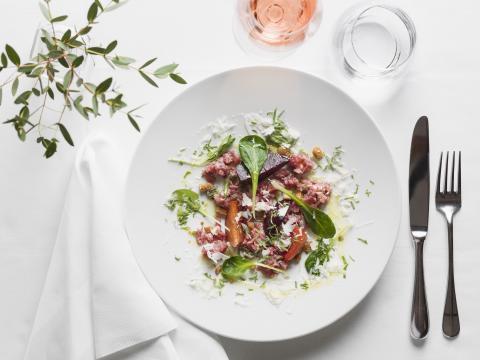 Aktiv Matlagning - Bollinger Rosé med Carne Crudo