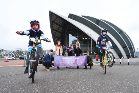 VisitScotland wheelie ready for Expo