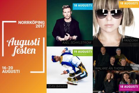 Flera artister klara till Augustifesten