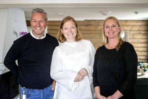 Andree Grundstad Meby, Ida Pinnerød og Hanne Olaussen