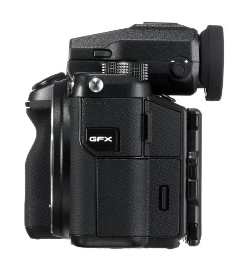 GFX 50S left side with EVF