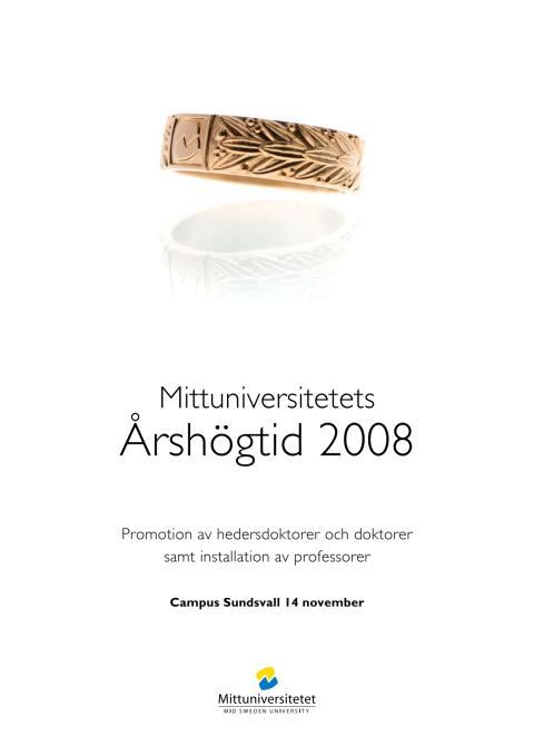 Verksamhetsberättelse 2008 med utblickar