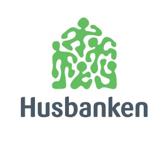 Husbankens logo, midtstilt