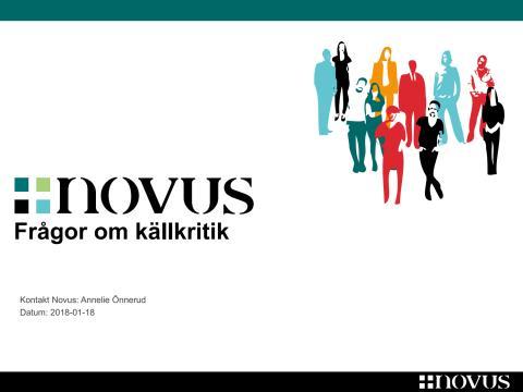 Novus-undersökning om källkritik