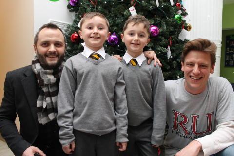 Brave Stechford twins switch on Christmas lights at Birmingham Children's Hospital