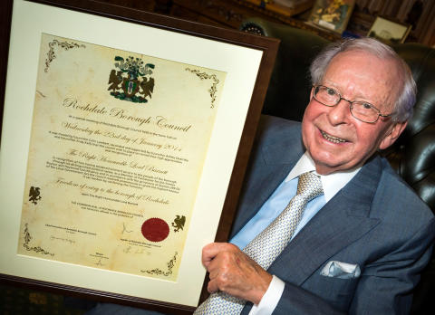 Lord Barnett becomes Freeman of the Borough
