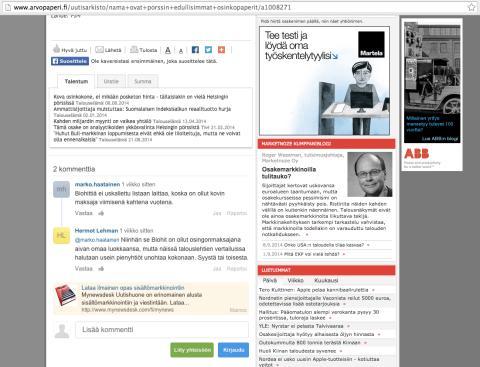 Natiivimarkkinointi Mynewsdeskissä