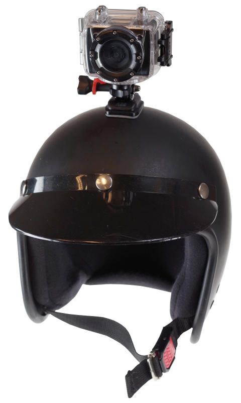 Jobo JIB4 on helmet