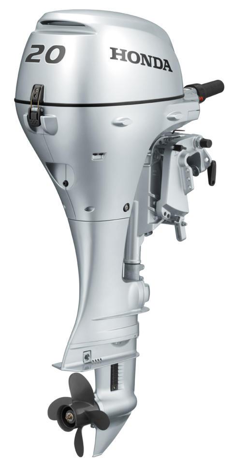 Hondas båtmotor BF 20 som är skonsam mot miljön tack vare fyrtaktsteknologin