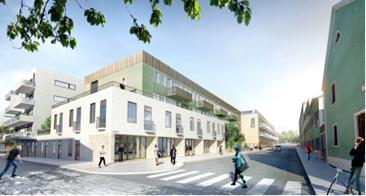 Förslag om att bygga om kommunhuset i Växjö till 250 bostäder.