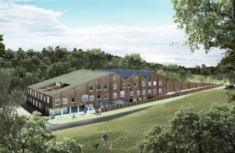 Skapaskolan, ett passivhus med solcellsanläggning